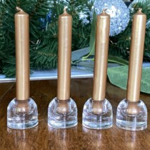 mini glasscandle olders with gold mini bougies La francais candles