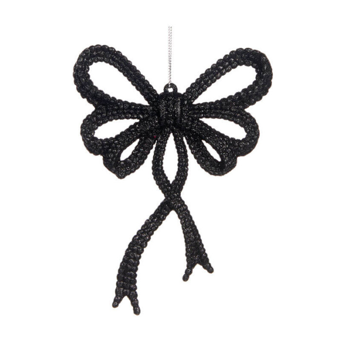 Bow-Ornament-Black-Purely-Christmas-TR-24517