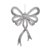 Bow-Ornament-Sliver-Purely-Christmas-TR-24516