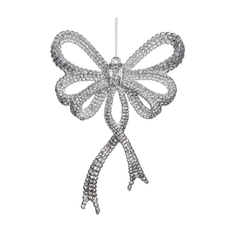 Bow-Ornament-Sliver-Purely-Christmas-TR-24516