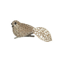 Champagne-Gold-bird-with-Clip-purely-christmas-FIX8756TF