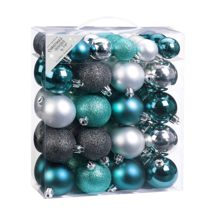 Emerald-grey-Mix-Inge-Shatterproof-Baubles-purely-christmas-81087G226