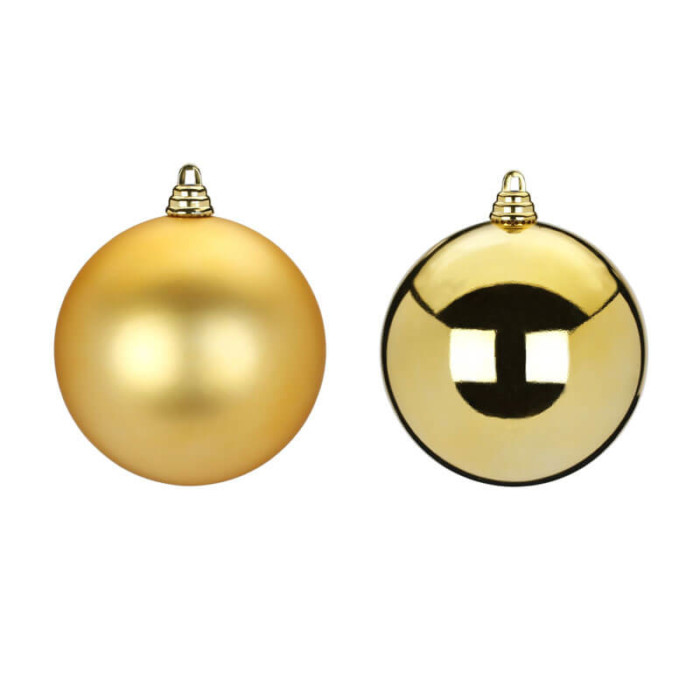 10cm -Gold-Shiny-Inge-Shatterproof-Ball-purely-christmas-81092G001