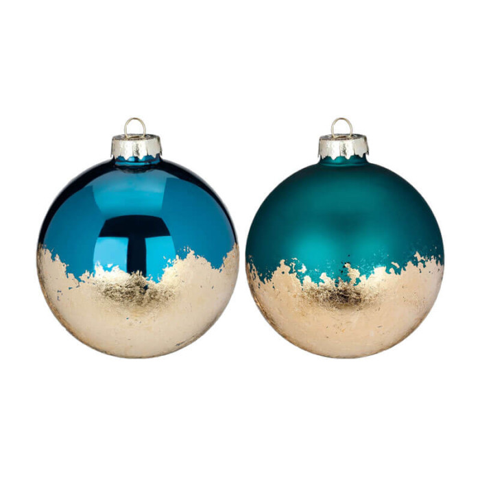 Inge-Glass-Baubles-Green-Emerald-with-gold-Purely-Christmas-40154H812