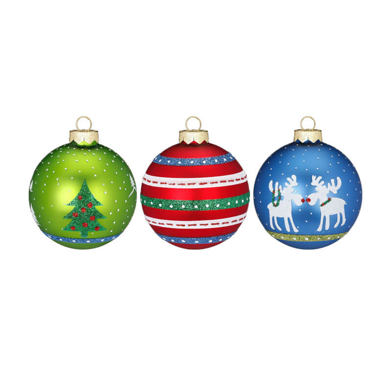 Inge-Glass-Baubles-Red-Blue-Green-Purely-Christmas-40123H812