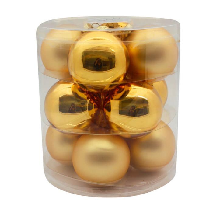 Inka-Gold-Shiny-Matt-Inge-Glass-Baubles-purely-christmas-12004C109