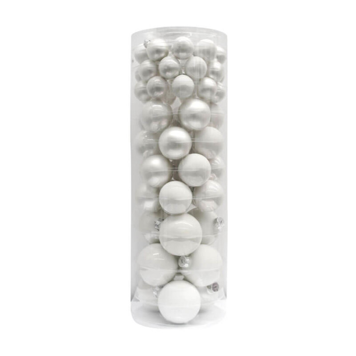 Just-White-Inge-Glass-Baubles-purely-christmas-15112A456