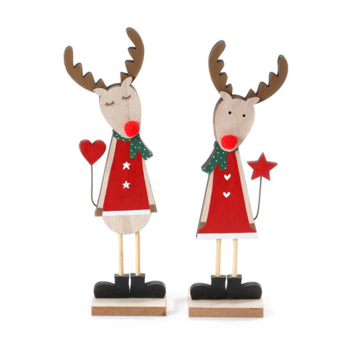 Red-Natural-Green-Wooden-Reindeer-Standing-purely-christmas-700000953