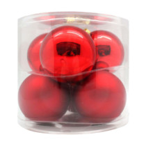 red shiny christmas baubles