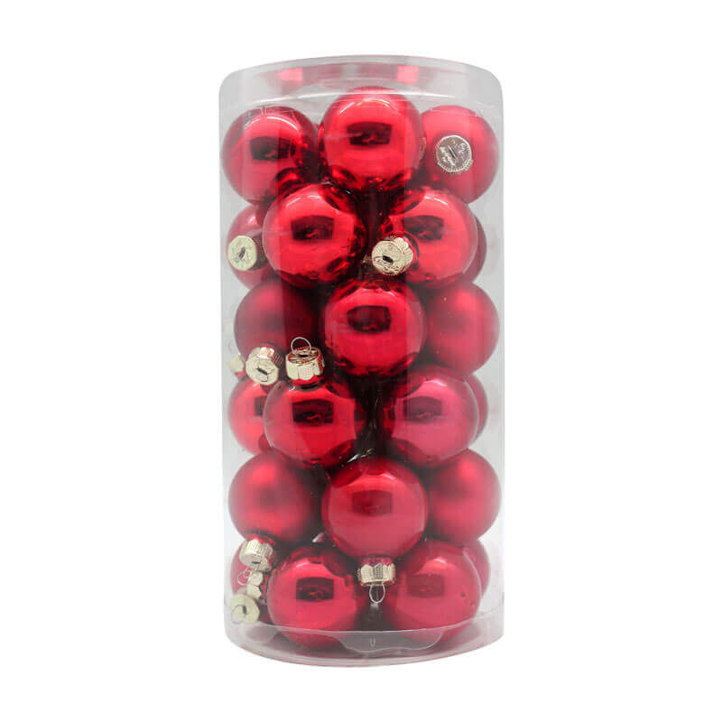 Ruby-Red-Inge-Glass-Baubles-purely-christmas-15007C103
