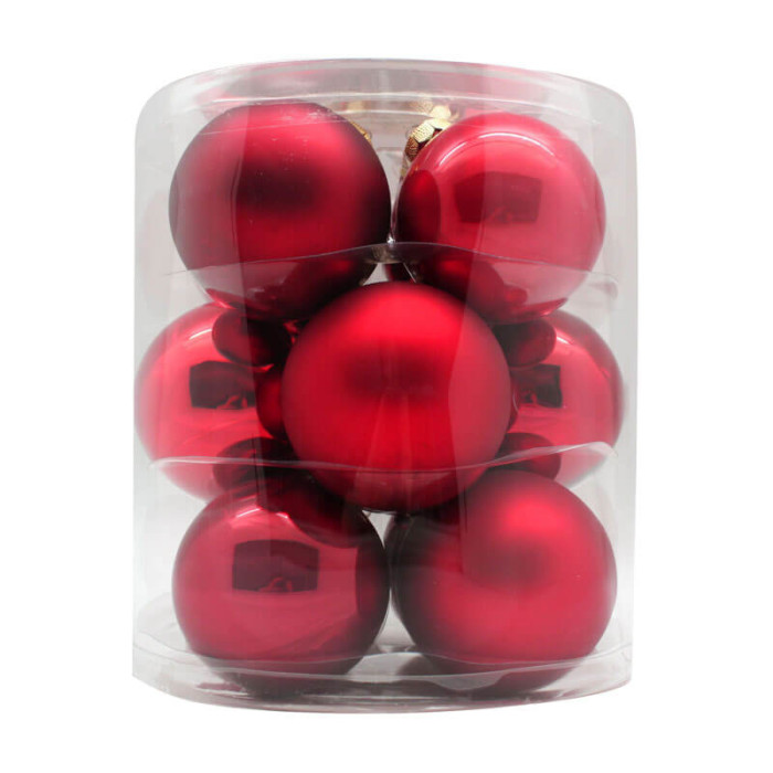 Ruby-Red-Inge-Glass-Baubles-purely-christmas-15007C109