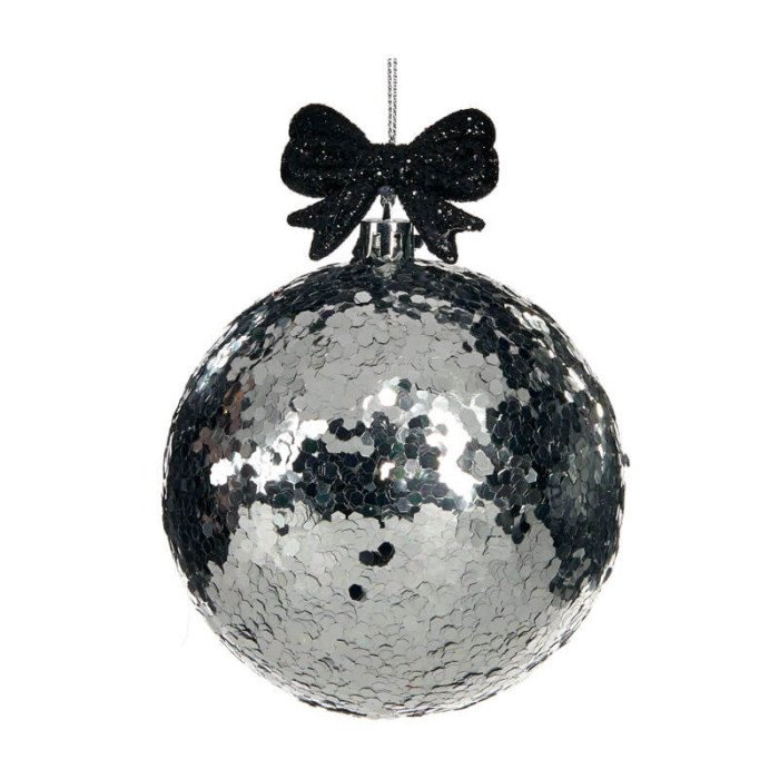 Silver-Black-Glitter-Ball-purely-christmas-TR24519