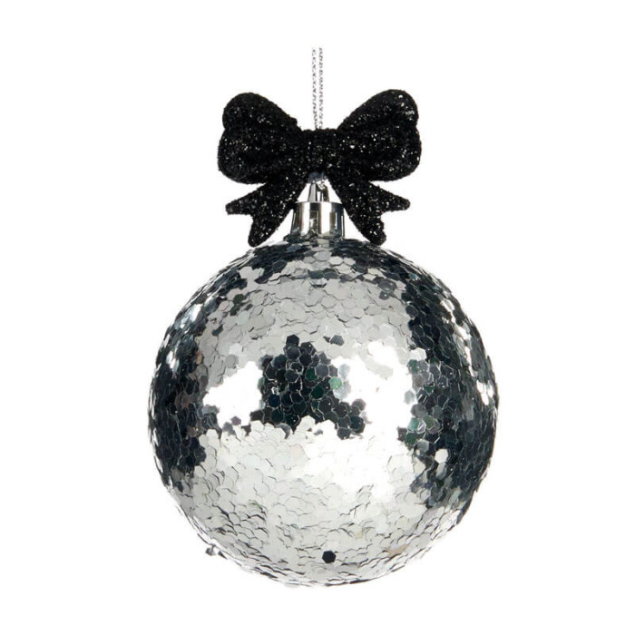 Silver-Black-Glitter-Ball-purely-christmas-TR24520