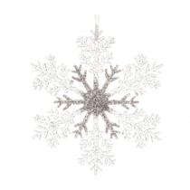 21cm acrylic glitter snowflake