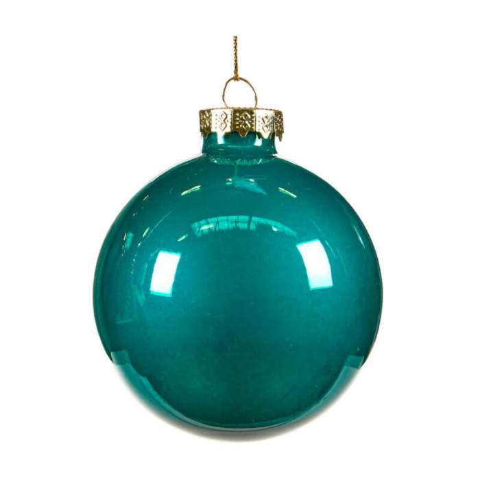 Turquoise glass bauble