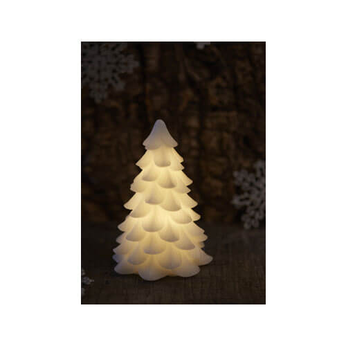 Candle - Carla Tree White Small, H16 x 11cm