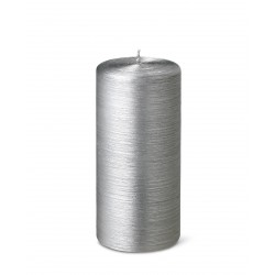 24539-pillar-candle-silk-15cm-25h-silver-purely-christmas-bougies-la-francaise