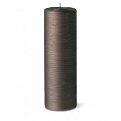 24611-pillar-candle-silk-25cm-40h-chocolat-purely-christmas-bougies-la-francaise