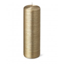 24637-pillar-candle-silk-25cm-40h-gold-purely-christmas-bougies-la-francaise