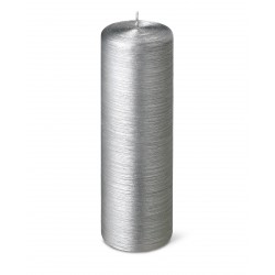 24639-pillar-candle-silk-25cm-40h-silver-purely-christmas-bougies-la-francaise