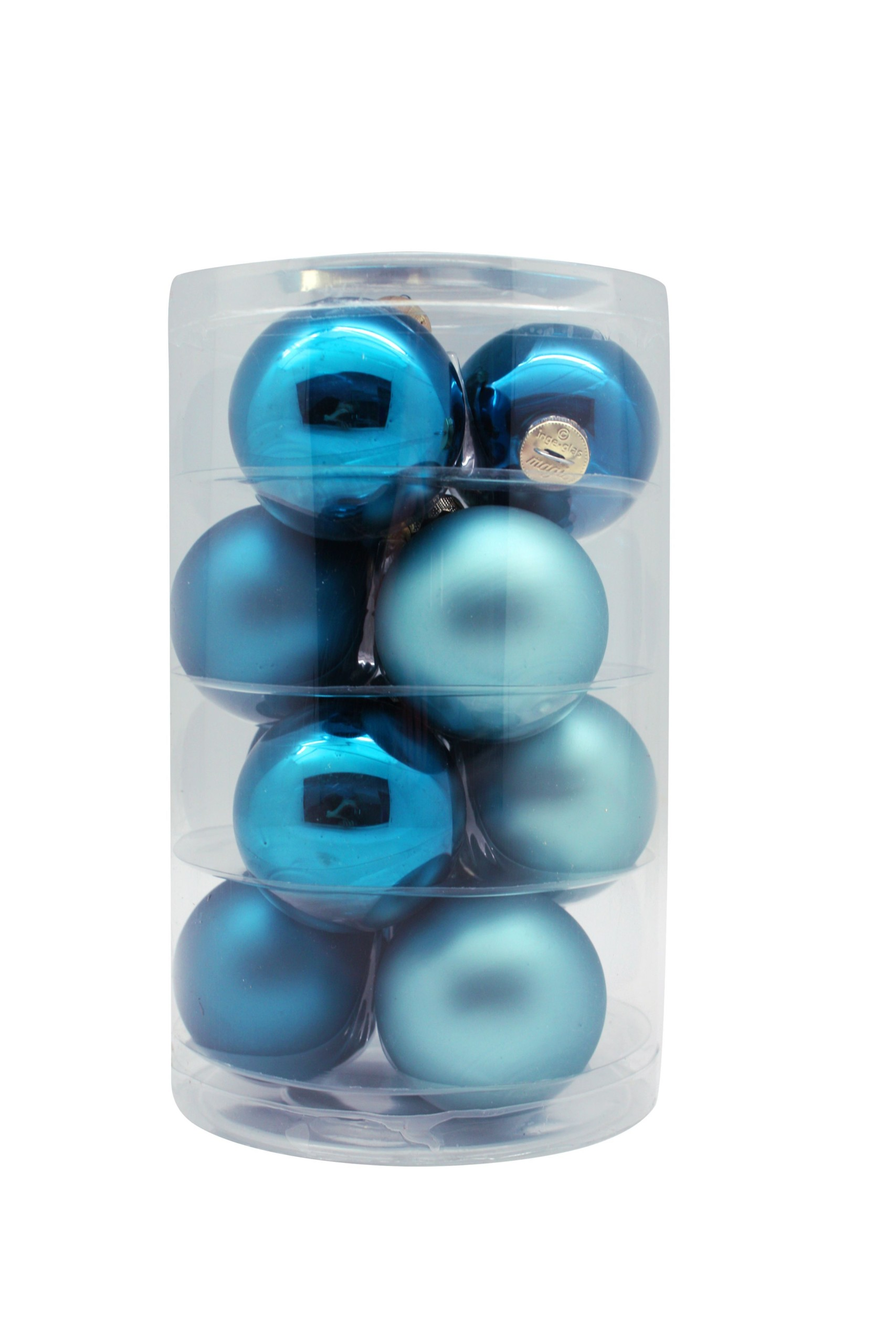 Classy-peacock-blue-inge-glass-baubles-purely-christmas-15246C105