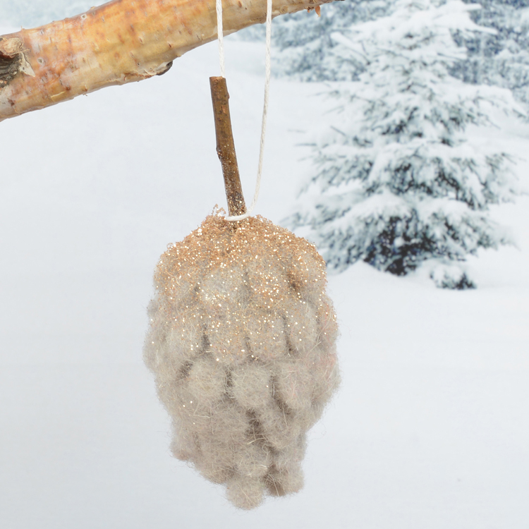 felt-pinecone-decoration-hanging-grey-purely-christmas-91544