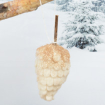 felt-pinecone-hanging-decoration-cream-purely-christmas-91543