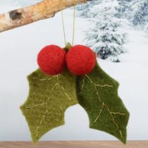 hanging-felt-holly-decoration-purely-christmas-91549