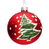 red glass bauble purely christmas