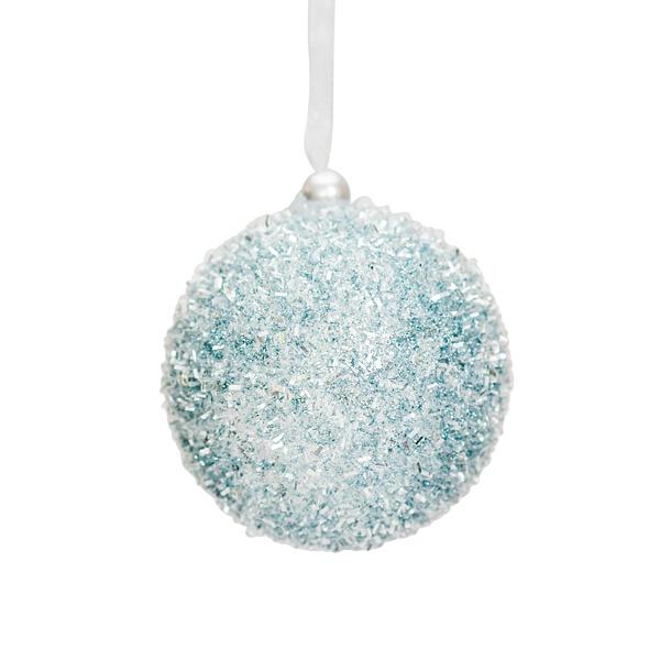 ice blue foam bauble 8cm