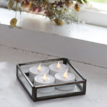 set of 4 battery operated tealights