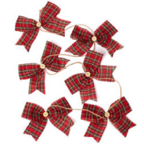 red tartan bow garland