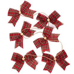 red tartan bow garland