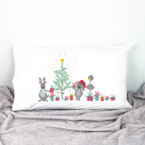 christmas pillowcase with aussie animals