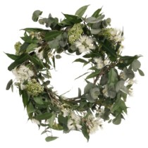 bottlebrush and eucalyptus wreath