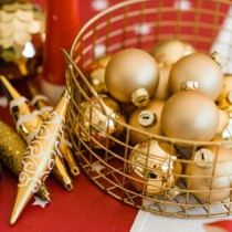 gold finials and baubles lifestyle