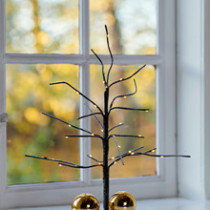 brown twig tree with LED lights 35cm