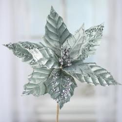 fake mint green poinsettia