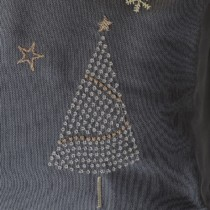 close up of embroidered tree