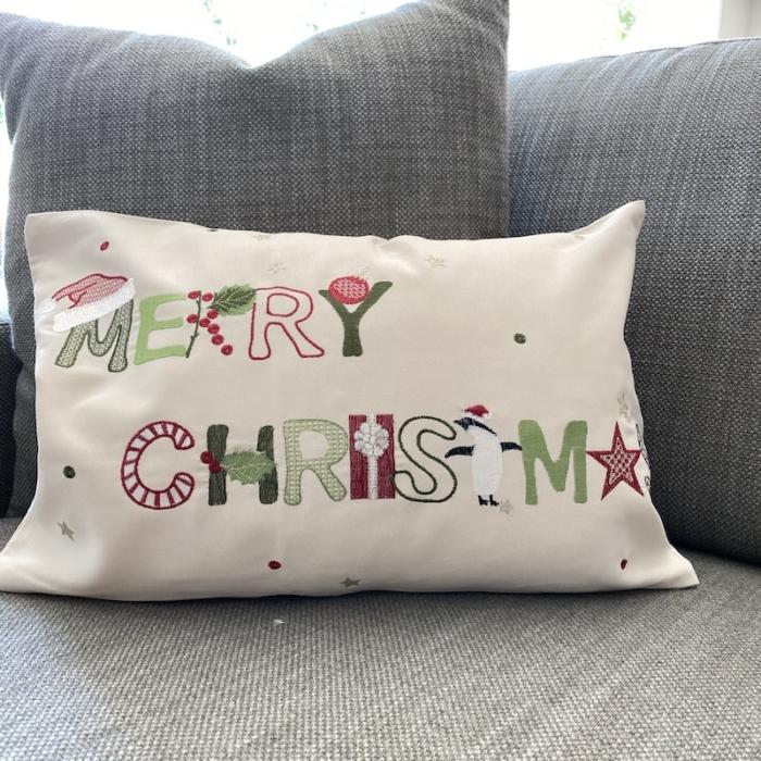 merry christmas cushion cover