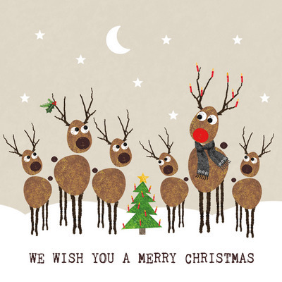 cute deer on christmas napkin
