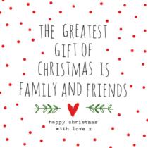 white christmas napkin with nice words