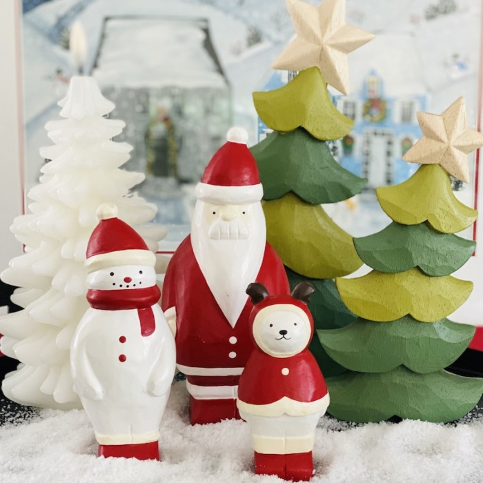 group of happy christmas wooden products from T-lab