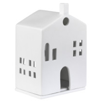 white porcelain house for candle
