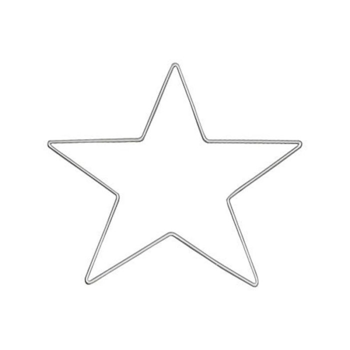 wire metal star 15cm
