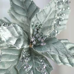 mint green jewelled poinsettia