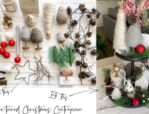 Three Simple Steps to quickly create a two tiered Christmas centrepiece