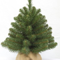 60cm artificial tabletop pine christmas tree in burlap sack