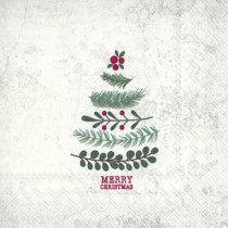 the natural christmas tree napkin