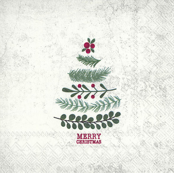 the natural christmas tree napkin